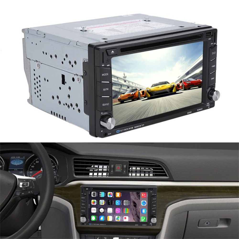6.2 Inch 800*480 Car 2 DIN Universal GPS