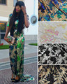L-PL101 Nova lantejoulas renda líquida Francês Nigeriano, tule de malha tecido de renda Africano de alta qualidade para o partido do vestido de casamento 5 10yards/lot