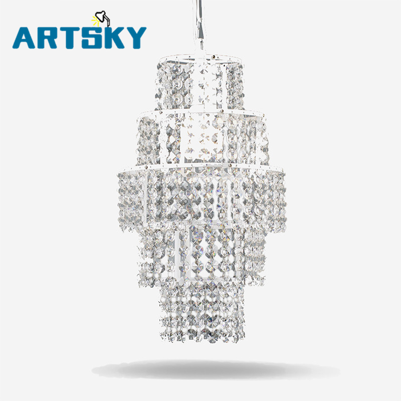 Modern Simple Crystal Chandelier Light Creative Personality Crysta Chandelier Lamps Chandeliers Lighting Living Room Bedroom chandelier lighting crystal luxury modern chandeliers crystal bedroom light crystal chandelier lamp hanging room light lighting