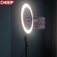 48 Вт 5500 К камера фото/видео 18 внешний 14 внутреннее кольцо флуоресцентная вспышка света светодио дный кольцо Ligthing Фотостудия