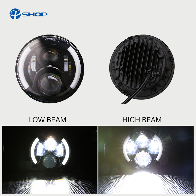 For Lada 4x4 urban Niva 7 LED Headlight Conversion Kit DLR Light Assembly For JK Hummer Trucks Headlamp