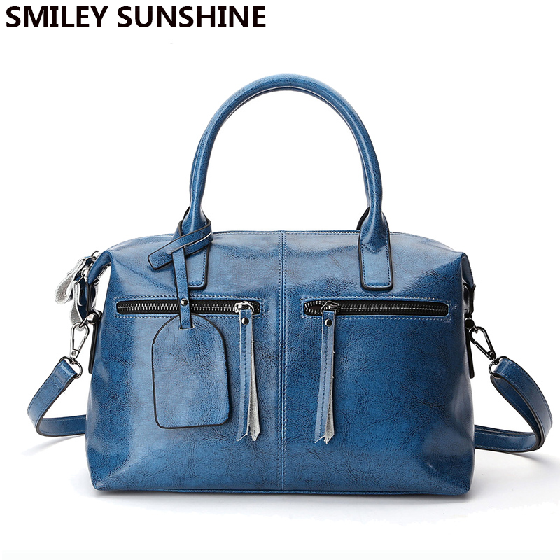 SMILEY SUNSHINE genuine leather bags luxury handbags women bags designer leather handbags female saffiano tote hand