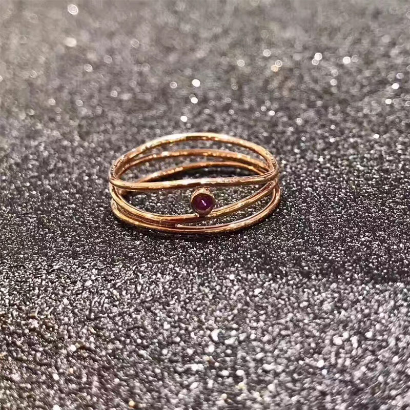 ANI 18K Rose Gold (AU750) Wedding Women Rings Certified Ruby Round Elegant Fashion Gemstone Ring for Lady Engagement Jewelry au750 rose gold ring lady d ring size 6