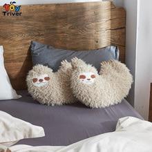 купить Reallife Plush Sloth Toy Stuffed Animals Doll Toys Car Home Sofa Cushion Throw Pillow Decor Baby Kids Birthday Gift Triver Drop дешево