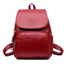 Простой Стиль рюкзак Дамские туфли из PU искусственной кожи сумка для подростков модная одежда для девочек винтажный рюкзак дамы школы Mochila F097