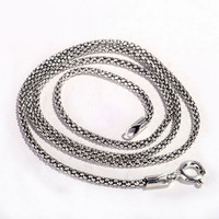 of silver products Thai silver wholesale 925 sterling silver jewelry ms 2.5 m popcorn chain necklace with chain