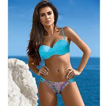 Women Swimsuit Bikinis-Set Padded-Top Biquini Push-Up Sexy XXL Plus-Size Brazilian Low-Waist
