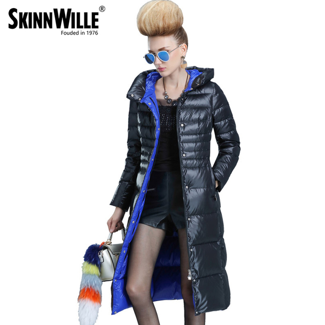 skinnwille 2017 new products down jacket in winter More female in long White duck down even the chinstrap collars