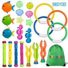 UTTORA Diving Toys Underwater Swimming Pool Toys Diving Game Training Gift for Kids Boys Girls  beach toy set  CE  3C