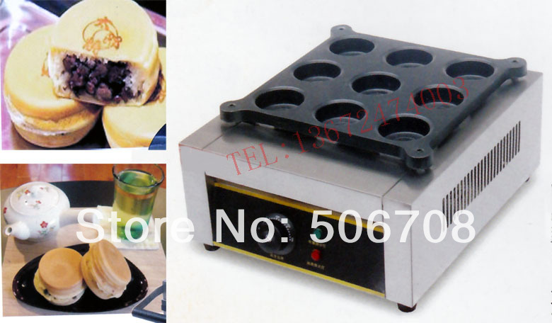 Free shipping~Gas type  9 hole bean cake grill( Aluminum plate), Layer cake maker Dorayaki machine  free shipping gas type 16 hole layer cake machine pattern in bottom waffle machine