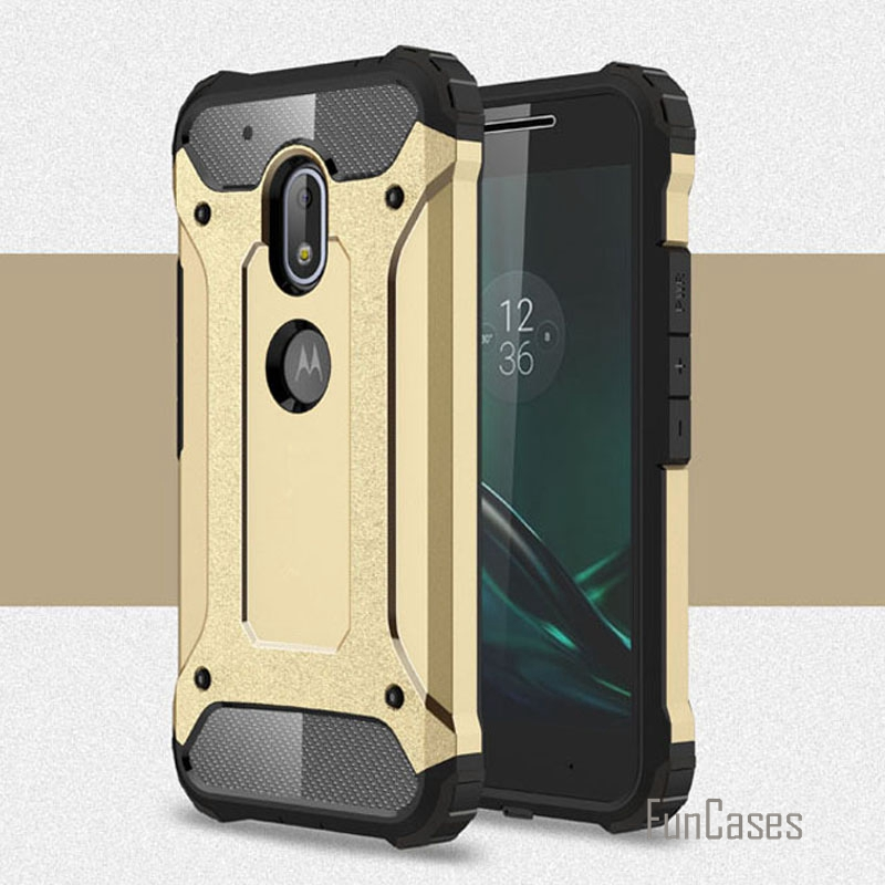 Shock proof G4 play armor case plastic + silicone hybrid case for motorola g4 play cases slim hard tough TPU phone covers bags *