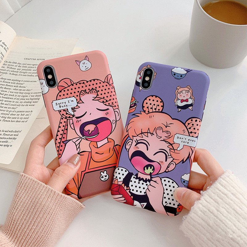 Novel Designs Delightful Colors And Exquisite Workmanship Jiban Cute Cartoon Sailor Moon Phone Cases For Iphone X Xr Xs Max Chowhound Girl Pattern Tpu Back Cover For Iphone 6 6s 7 8 Plus Famous For Selected Materials