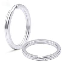 Edelstahl Schlüssel Ring Flache Ring Metall Zubehör Draht Dia 1,5/1,6/1,8/2,0/2,2/ 2,4/2,6mm Schlüssel Kette Halter Großhandel 300 stücke