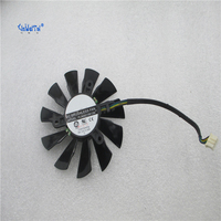 100 Brand New Cpu Cooling Fan For MSI HD7750 Graphics Card Fan PLA09215B12M
