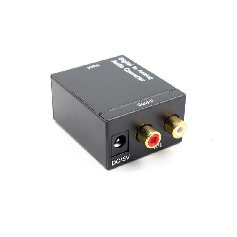 SPDIF Decodificador Amplificador Digital para Áudio Analógico Conversor DAC Fiber Coaxial Sinal de Áudio RCA Coaxial para Analógico L/R adaptador de áudio