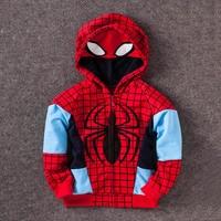 Super Hero Enfants Hoodies Enfants Enfants Garçons Shirts de Bande Dessinée Spider-man Garçon Veste Manteau The Avengers Alliance