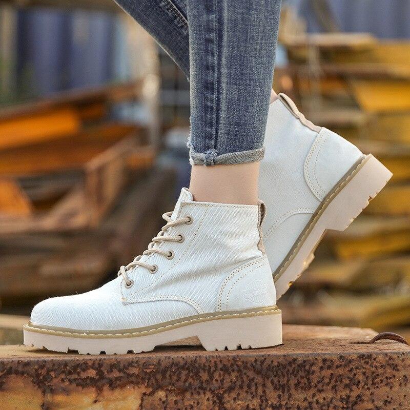 Chaussures Femmes Casual Gris Toile Rue Martin kaki rose Bottes Automne Outillage Militaires En Simples Printemps De Plein Haute Air 0y4Staqw
