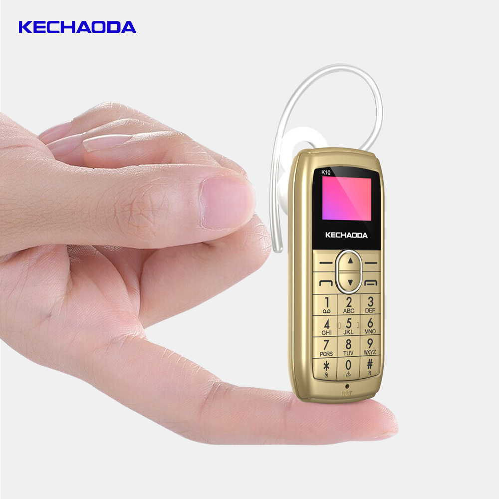 """KECHAODA K10 Bluetooth Headset Mobile Phone All-in-one 0.66"""" MTK6261DA 32MB+32MB 250mAh Cell Phone"""