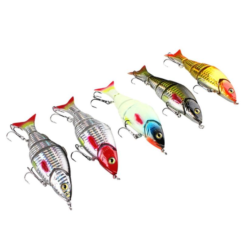 5pcs Multiple-Section Fishing Lures Bionic VIB 120mm/4.72 Artificial Swimbaits Fishing Tackle 105g Fishing Accessaries