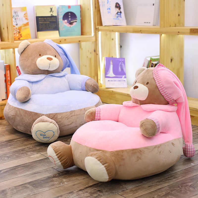 45cm 55cm Cute Suffted Teddy Bear Sofa Chair Plush Pillow Cushion Toys Baby Seat Kids Gifts Plush Pillows Aliexpress