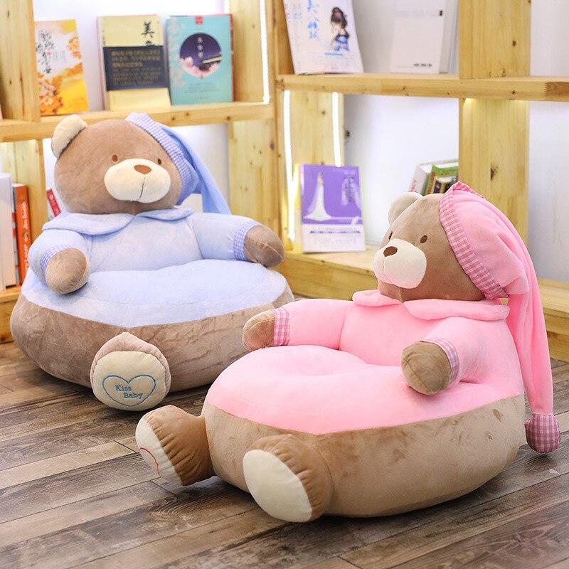 1 pc 45 cm * 45 cm * 55 cm jouets en peluche mignon ours en peluche canapé chaise en peluche oreiller coussin jouets en peluche bébé siège enfants cadeaux