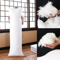 100% tela de plumas relleno de cuerpo largo abrazo almohada cama cojín Anime rectángulo dormir almohada relleno de inserción suave core