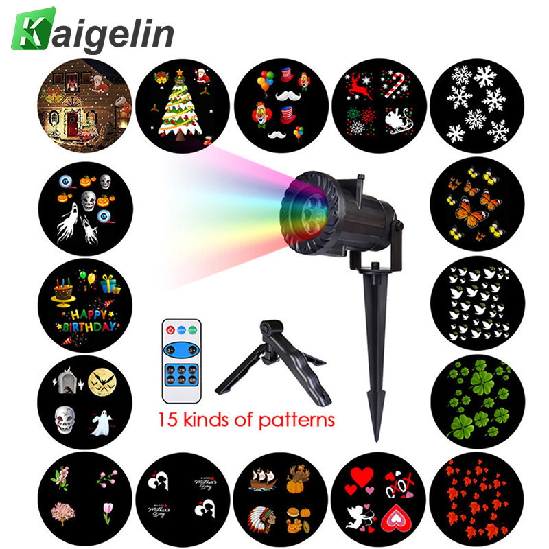 Chrismas Lights Waterproof LED Projector Remote Control Laser Fairy Light Projection Family Holidays Party Wedding Decoration wedding decoration fairy lights christmas lights outdoor colors change remote control waterproof led ball light for swimming