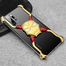 PADCOVER Iron Man Luxury Metal Case for Huawei P30 Pro Personality Bumper Shell Shockproof Drop Phone