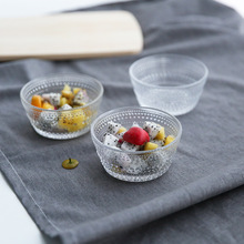 1 Pcs High Quality Beads Glass Bowls Household Ice Cream Desserts Fruit Salad Korean Creative Tableware Solid Round