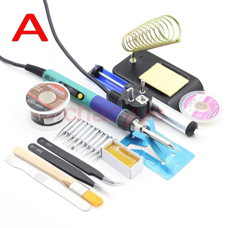 ФОТО CXG 936d 60W Digital LCD Adjustable temperature Electric Soldering station Electric soldering iron (220V EU 110V US)