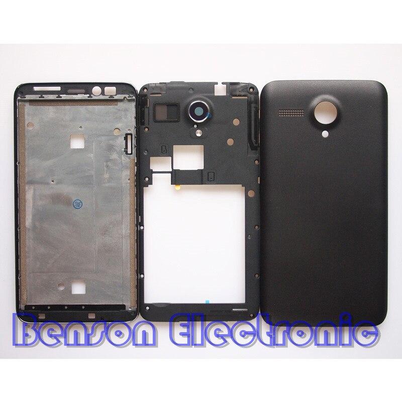 imágenes para BaanSam Nueva Holder LCD Marco Frontal tapa de La Batería Caso de Vivienda de La Contraportada Para Lenovo A606 Con Botón de Volumen de Energía + antena