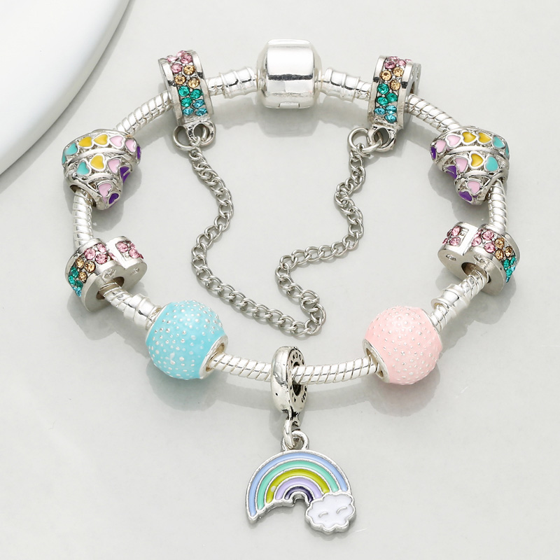 CHIELOYS New Summer Style With Charm Bracelet & Bangles With Rainbow Pendant Pandora Bracelet Jewelry Gift Pulseras BA047