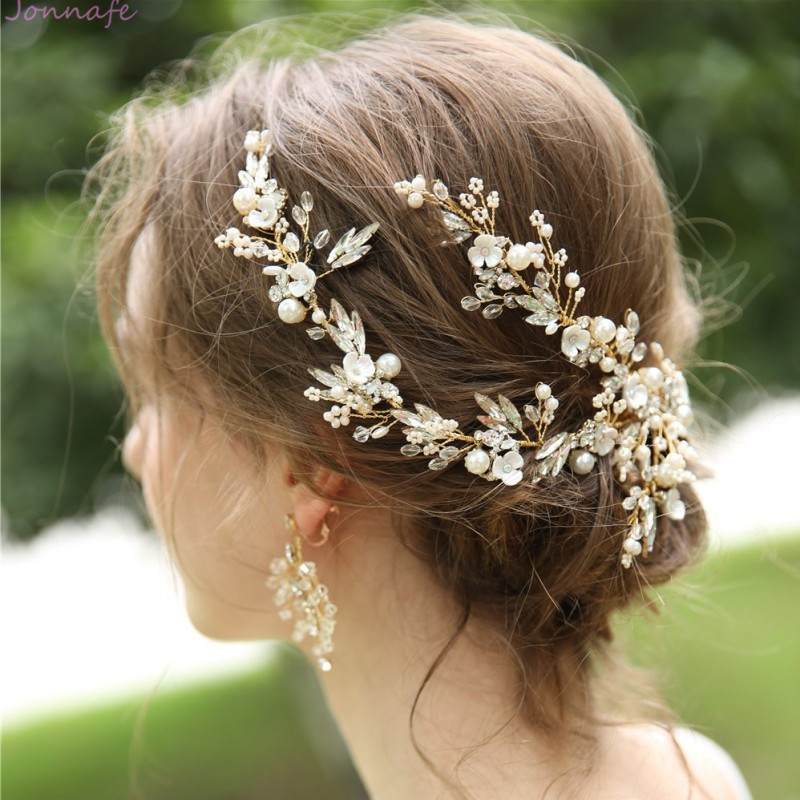 DELICATE AUSTRIAN CRYSTAL HAIR VINE BRIDE BRIDESMAID PROM CHOOSE LENGTH