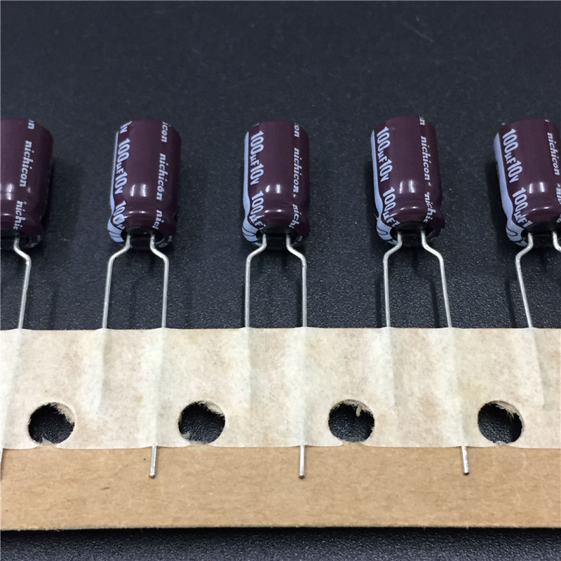 10pcs 100uF 10V NICHICON PL Series 6.3x11mm 10V100uF High Quality Aluminum Electrolytic Capacitor