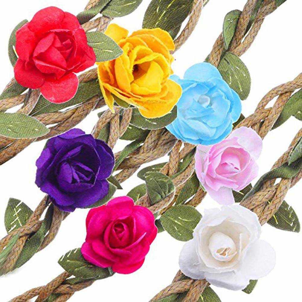 2018 Lovely Design Floral Headband Mulheres Rose Flor Faixa de Cabelo Elástico Headband Da Flor Acessórios Para o Cabelo Das Meninas Flor Ajustável