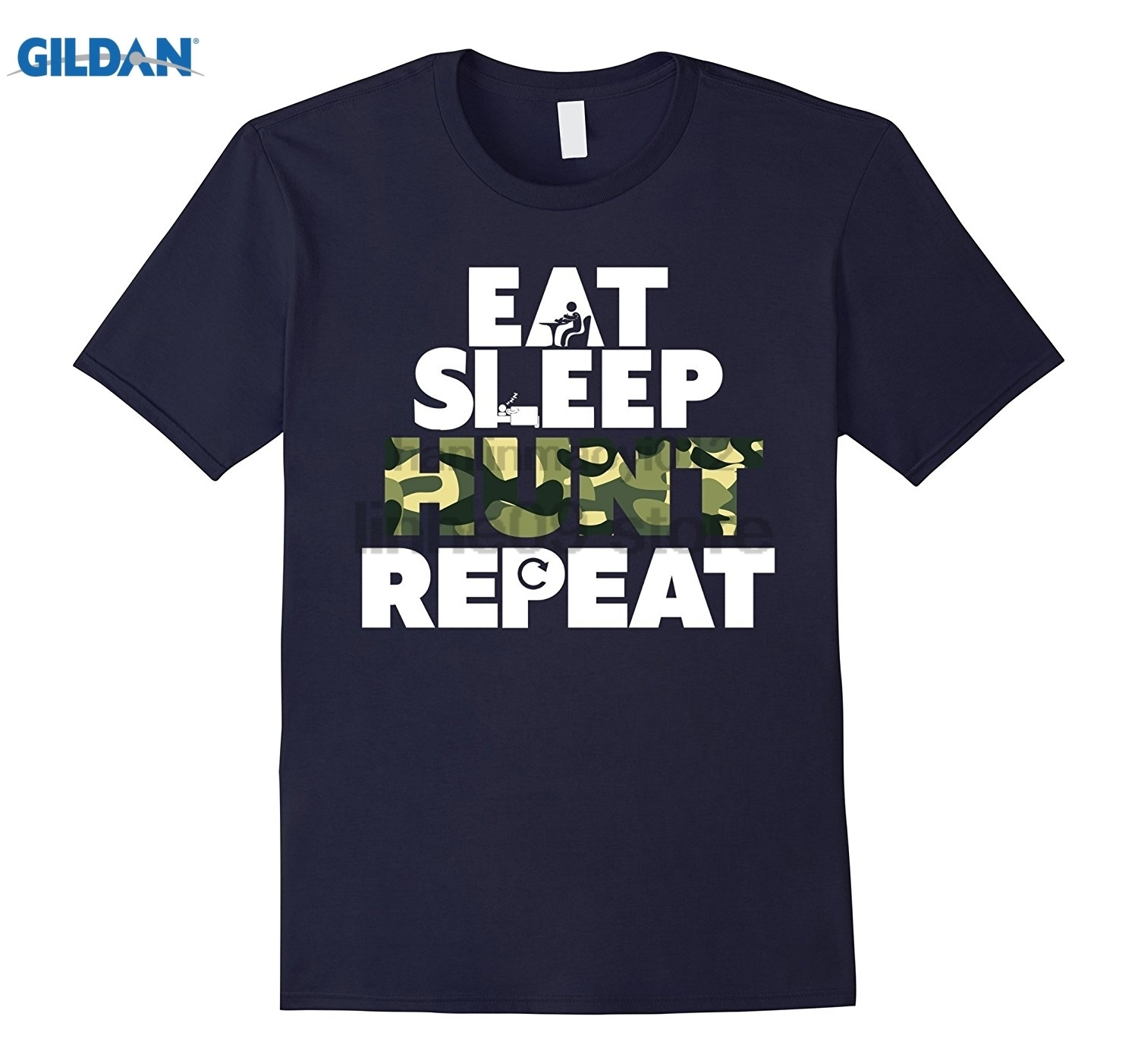 GILDAN Eat, Sleep, Hunt, Repeat - T-Shirt Womens T-shirt