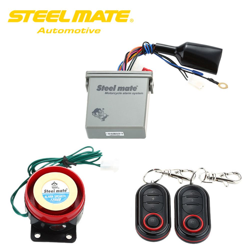 Steelmate Motorcycle Alarm System 986e 1 Way Remote Engine
