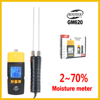 Wood Moisture Meter Digital LCD Display Wood Moisture Meter Humidity Tester Detector Portable GM620 BENETECH