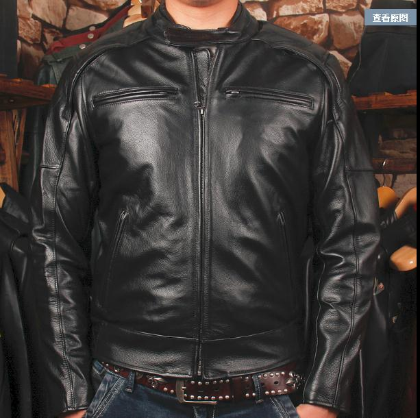 Erkek Kıyafeti'ten Hakiki Deri Montlar'de DHL Ücretsiz nakliye, Marka giyim kış kalın Ceketler erkek hakiki Deri biker ceket. motosiklet süet sıcak satış'da  Grup 1