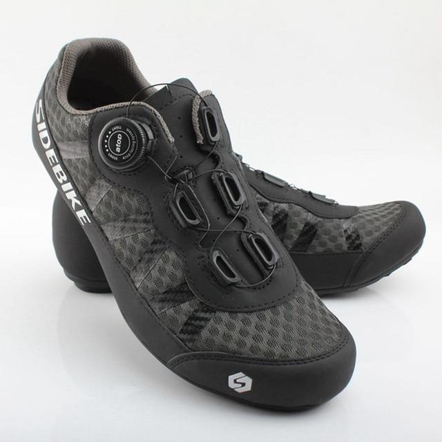 Sidebike 2 cores sapatos de ciclismo men pro team mountain road bicicleta sapatos de borracha respirável desbloqueado sapatos mtb 36-46 tamanho 1