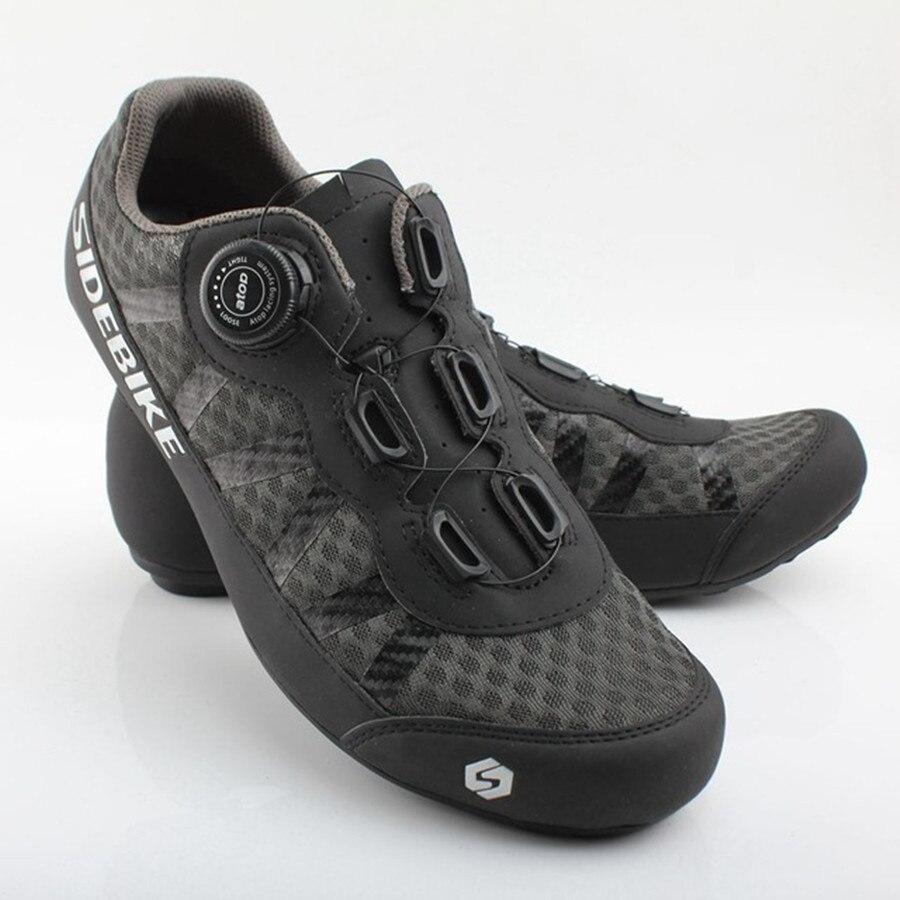 Sapatos de Ciclismo Sapatos de Borracha Sidebike Cores Team Mountain Road Bicicleta Respirável Desbloqueado Sapatos Mtb 36-46 Tamanho 2 Men Pro