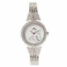 Nuevas Llegadas Famosa Marca de Lujo Lleno de Diamantes Pulsera de Las Mujeres Reloj de Señora Vestido Reloj de la Joyería de Bling Crystal Bangle Relojes Femeninos