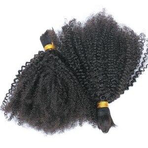 Image 4 - Afro Verworrene Lockige Menschliche Flechten Haar Groß Keine Bindung Brasilianischen Groß Haar Für Flechten 1 3 Pc Häkeln Zöpfe 4B 4C Dolago Remy