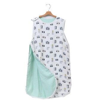 0c07b50cab 8 layer70 % bambú muselina De algodón bebé pijamas Dormir Mod Para lecho  del verano del bebé Saco De Dormir Para Bebe sacos Sleepsacks