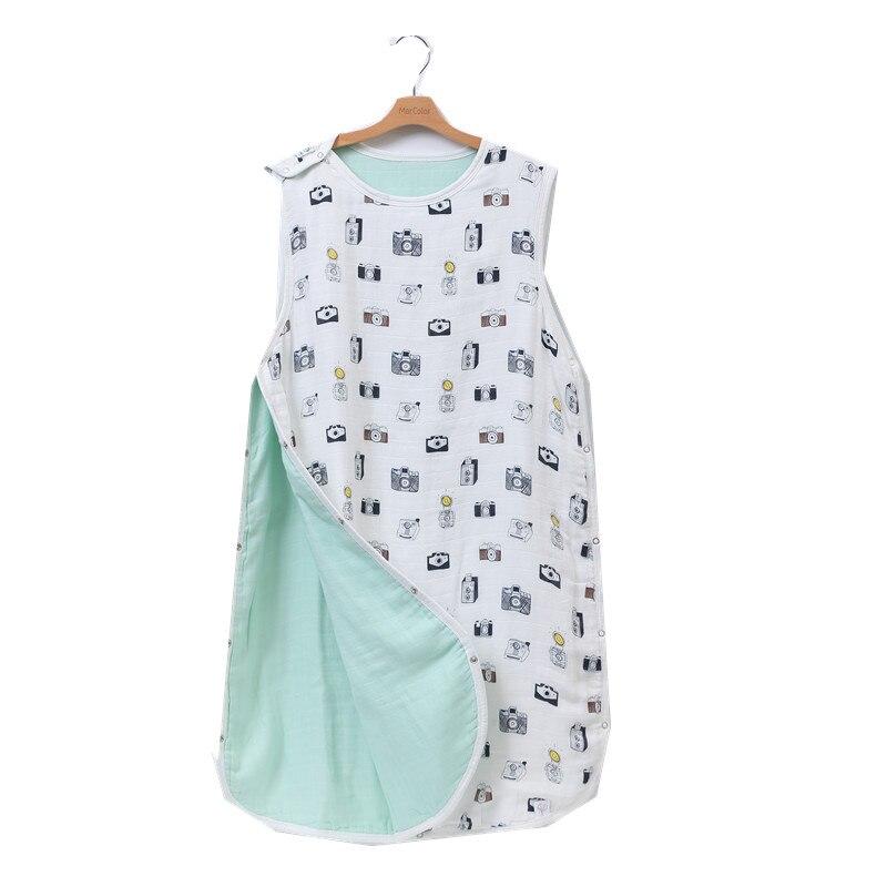 8 layer70 % bambu musselina algodão bebê dormir saco mod para cama verão bebê saco de dormir para bebe sacos de dormir