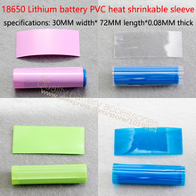 18650 battery casing bright blue transparent insulation heat shrinkable sleeve battery battery sheath of PVC heat shrinkable fil 1 pair car battery terminal insulation clamp clips protection protector sleeve covers pvc 62 30 25mm black red