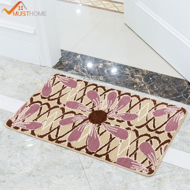 40x60cm 50x80cm Environmental Jacquard Bath Mats Non Slip Latex Back Door Rugs For Bathroom