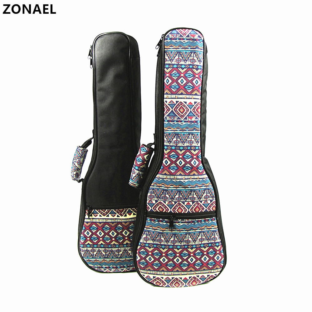 21 23 26 Inch Ukulele Carry Bag Cotton Padded Hand Folk Canvas For Ukulele Guitar Parts Accessories National Case Single Strap free shipping ukulele 21 23 26 inch cotton bag thickening guitar small newspaper design package