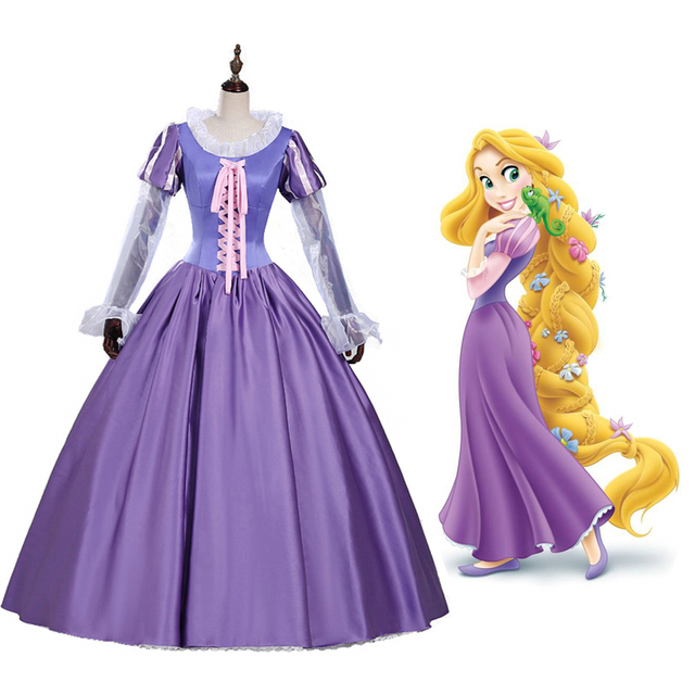 La princesse raiponce film de fiction adulte fantaisie robe costumes pour halloween carnaval - Halloween hipercor ...