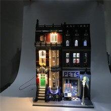 a3dfe13c278b4 Zestaw oświetlenia Led do Lego budynek miasto Street 10218 zwierzęta domowe  są sklep Supermarket dom zabawki kompatybilny 15009 .